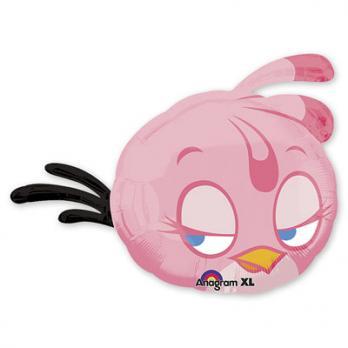 "Шар фигура фольга ""Angry Birds Розовая"""