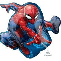 Шар фигура фольга Человек паук в прыжке