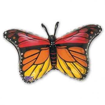 """Шар фигура фольга """"Бабочка Монарх"""""""