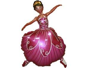 Шар фигура фольга Балерина