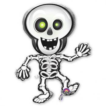 """Шар фигура фольга """"Скелет танцующий"""""""