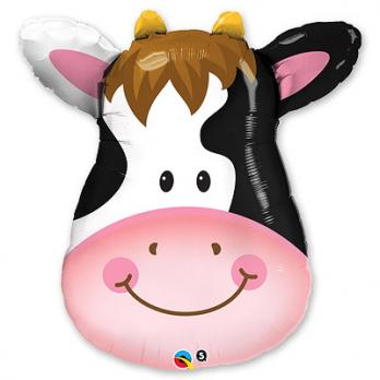 Шар фигура фольга Корова голова