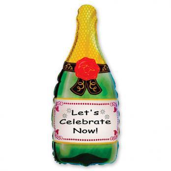 "Шар фигура фольга ""Бутылка шампанского"""