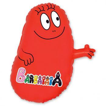 Шар фигура фольга Барбидур оранжевый