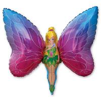 Шар фигура фольга Фея бабочка