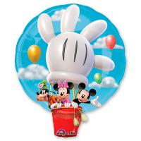 Шар фигура фольга Микки на воздушном шаре