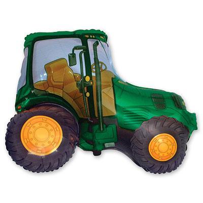 """Шар фигура фольга """"Трактор зеленый"""""""