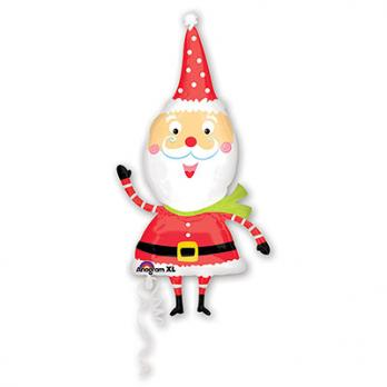 "Шар фигура фольга ""Санта забавный"""
