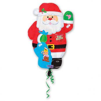 """Шар фигура фольга """"Санта"""""""