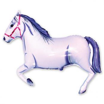 Шар фигура фольга Лошадь белая