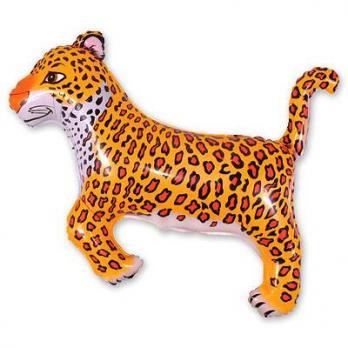Шар фигура фольга Леопард черные пятна