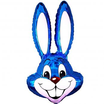 "Шар фигура фольга ""Кролик синий"""