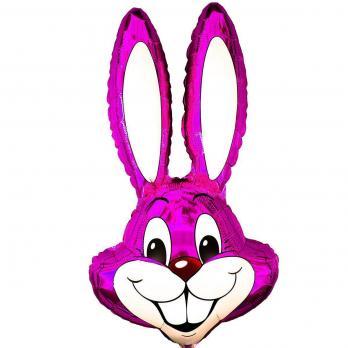 """Шар фигура фольга Кролик малиновый"""""""
