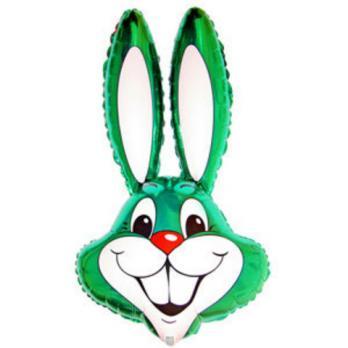 Шар фигура фольга Кролик зеленый