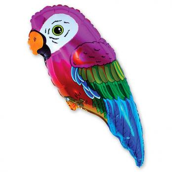 Шар фигура фольга Попугай