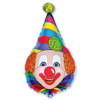 Шар фигура фольга Клоун в колпаке