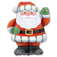 Шар фигура фольга Санта рост