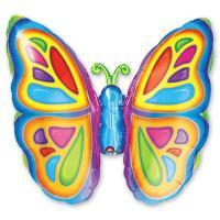 Шар на палочке Бабочка яркая