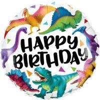 Шар круг фольга HB Динозавры