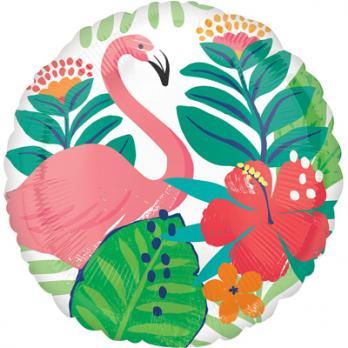 """Шар круг фольга """"ALOHA Фламинго"""""""