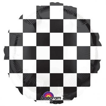 Шар круг фольга Шахматная доска