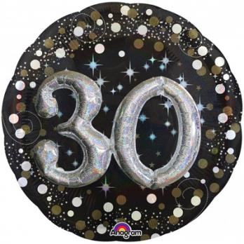 """Шар круг """"Birthd 30 gold"""""""