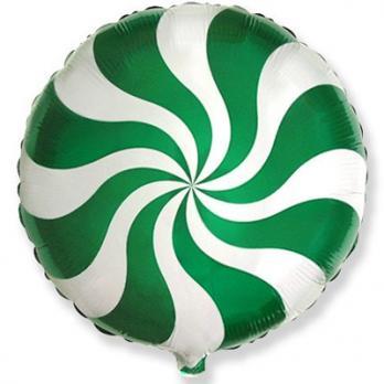 Шар круг фольга Конфета зеленая