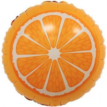 "Шар круг фольга ""Апельсин"""