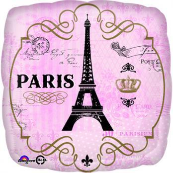 Шар квадрат фольга PARIS День в Париже