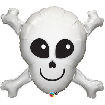Шар фигура фольга Череп с костями