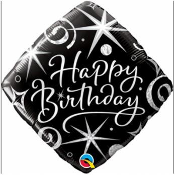 "Ромб ""Happy Birthday"" завитки"