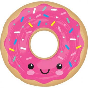 """Шар фигура фольга Пончик в глазури розовой"""""""