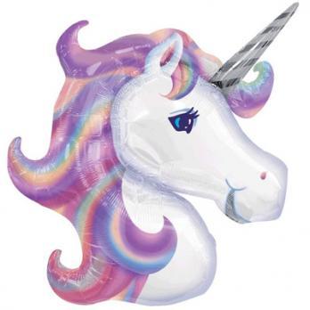 """Шар фигура фольга """"Единорог Фиолетовый голова"""""""
