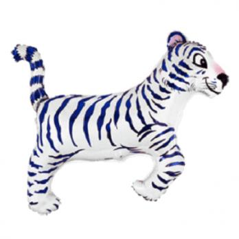 Шар фигура фольга Тигр белый