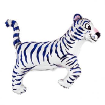 "Шар фигура фольга ""Тигр белый"""