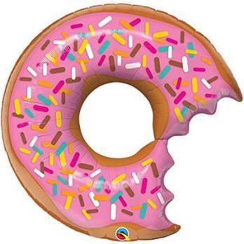 Шар фигура фольга Пончик Донат надкусанный