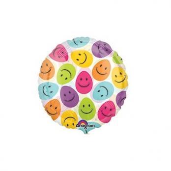 """Шар круг фольга """"Яйца улыбающиеся"""""""