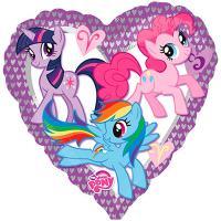 Шар фольга My Little Pony сердце