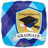 Шар квадрат фольга Поздравление выпускник