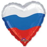 Шар сердце фольга Триколор Сердце