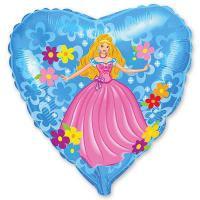 Шар сердце фольга Принцесса