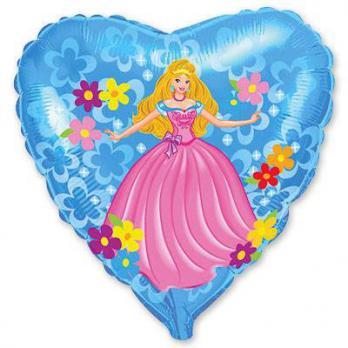 """Шар сердце фольга """"Принцесса"""""""