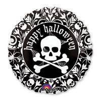 Шар круг фольга Хэллоуин Череп с орнаментом