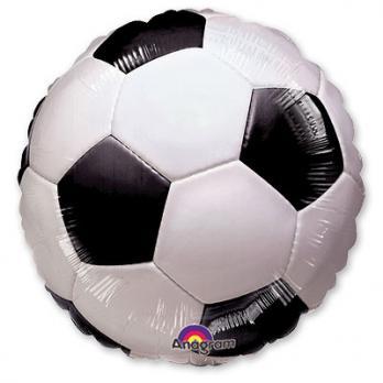 Шар круг фольга Футбольный мяч