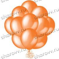 "Шары металлик 35см. Оранжевые"""