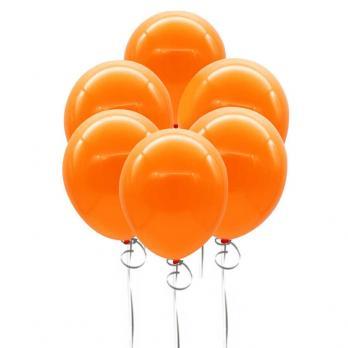 Шары металлик 35см. Оранжевые