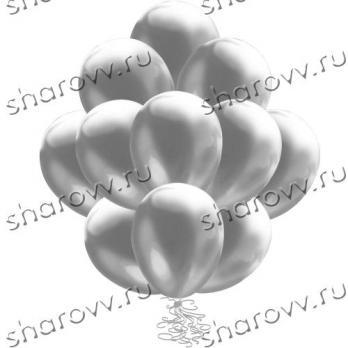 Шары металлик 35см. Серебряные
