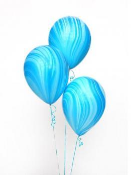 Шары латекс Агат синий