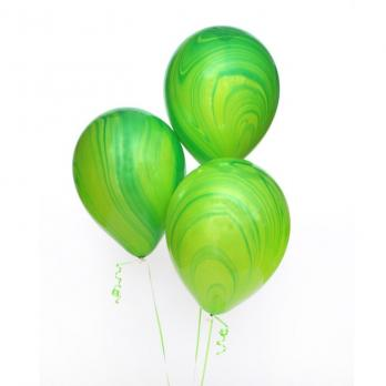 Шары латекс Агат зеленый