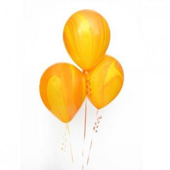 Шары латекс Агат желтый